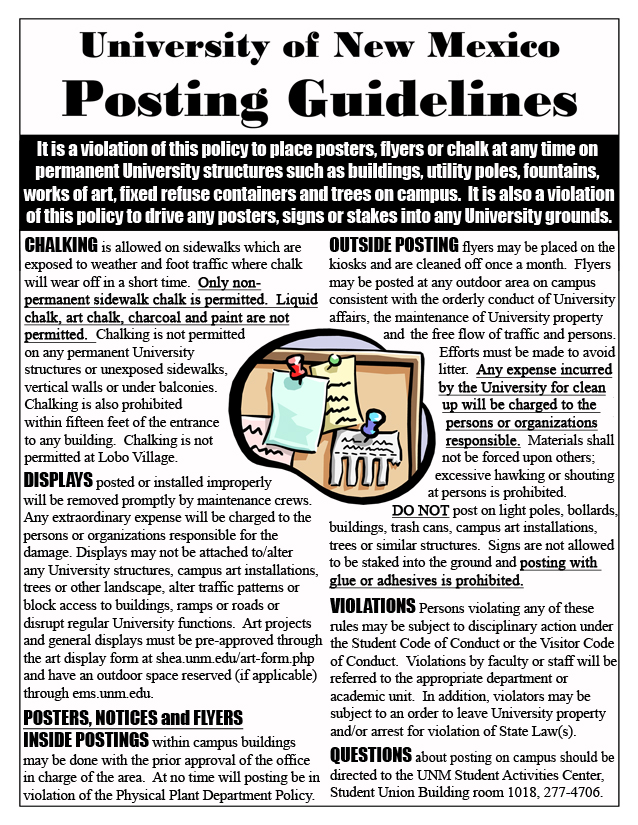 UNM Posting Guidelines Front